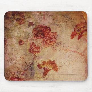 Grandmas Fabric of roses Mouse Pad