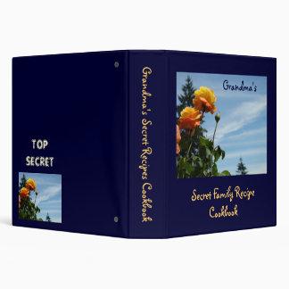 Grandma's Family Secret Recipes Cookbook Binder