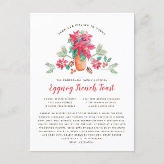Grandma's Favorite Christmas Recipe Holiday Postcard
