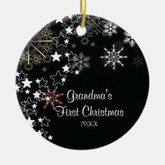Grandma's First Christmas  Snowflake Ornament