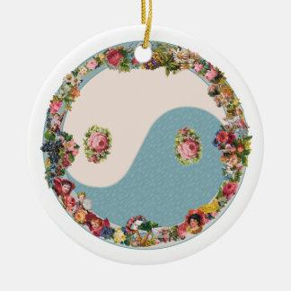Grandma's Floral Yin Yang Ornament