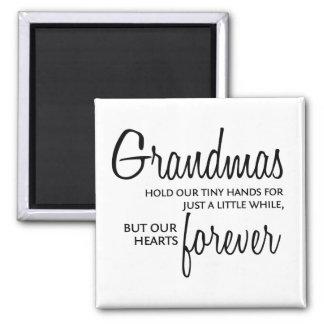 Grandmas Forever black Refrigerator Magnets