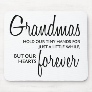 Grandmas Forever black Mouse Pad