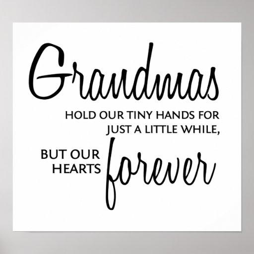 Grandmas Forever black Poster