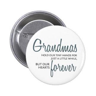 Grandmas Forever blue Button