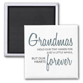 Grandmas Forever blue Magnets