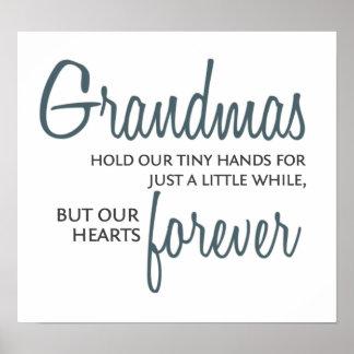 Grandmas Forever blue Poster