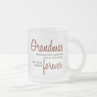 Grandmas Forever red 10 Oz Frosted Glass Coffee Mug