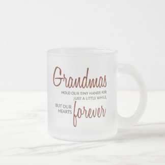 Grandmas Forever red Frosted Glass Coffee Mug