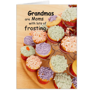 Grandmas Frosting Mother's Day Cupcakes Card