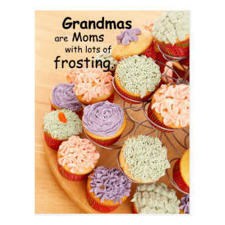 Grandmas Frosting Mother's Day Cupcakes Postcard