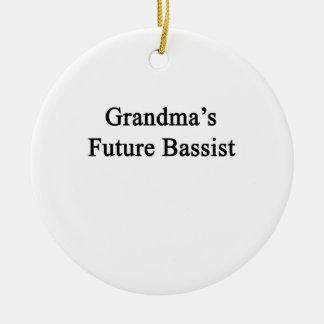 Grandma's Future Bassist Ceramic Ornament