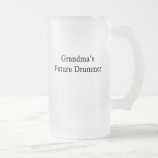Grandma's Future Drummer Frosted Glass Beer Mug