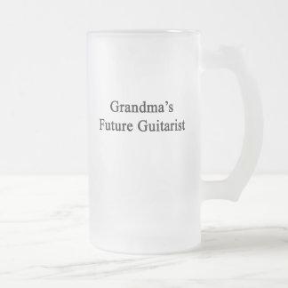 Grandma's Future Guitarist Frosted Glass Beer Mug