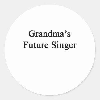 Grandma's Future Singer Classic Round Sticker