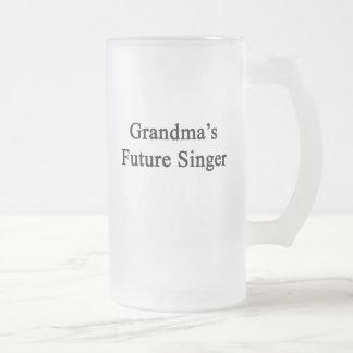 Grandma's Future Singer Frosted Glass Beer Mug
