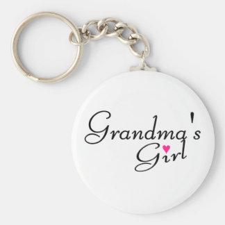 Grandmas Girl Basic Round Button Keychain