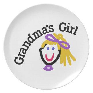 Grandma's Girl Melamine Plate