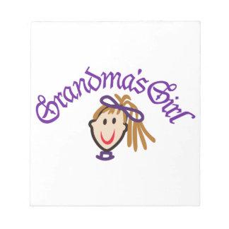 Grandmas Girl Memo Notepads