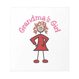 Grandmas Girl Memo Note Pad