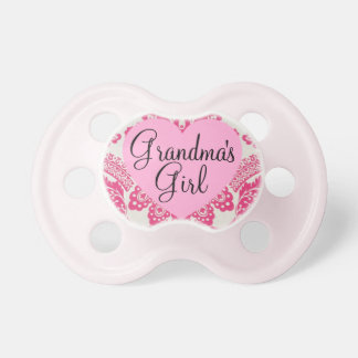 """Grandma's Girl"" Vintage Damask Pacifier"