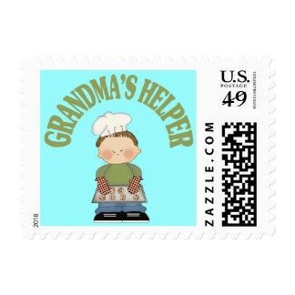 Grandma's Helper Postage Stamp