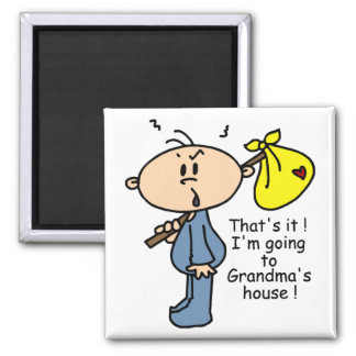 Grandma's House Baby (BLUE) 2 Inch Square Magnet