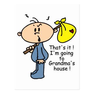 Grandma's House Baby (BLUE) Postcard