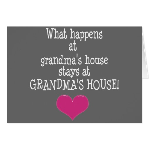 Grandma's House Cards