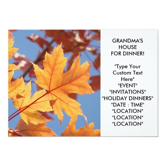 GRANDMA'S HOUSE DINNER Invitations Holiday Cards