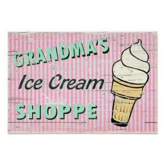 Grandma's Icecream Poster