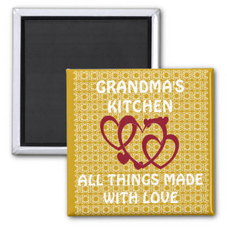 GRANDMAS KITCHEN/ALL THINGS MADE WITH LOVE MAGNET