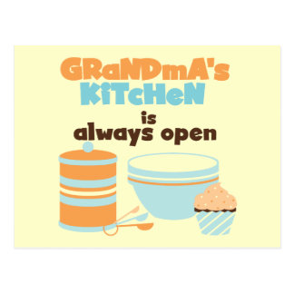 Grandma's Kitchen Always Open T-shirts and Gifts Postcard