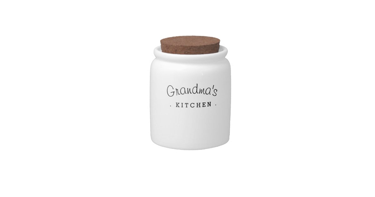 Grandma's Kitchen Gift Ceramic Jar