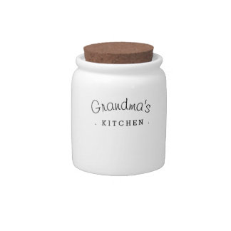 Grandma's Kitchen Gift Ceramic Jar Candy Jar