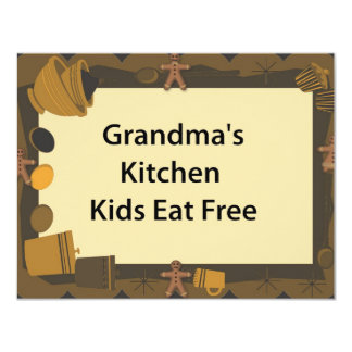 Grandma's Kitchen Kids Eat Free Card