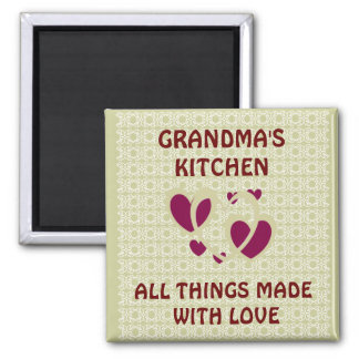 GRANDMAS KITCHEN/MADE WITH LOVE MAGNET