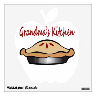 Grandmas Kitchen Pie Wall Decal