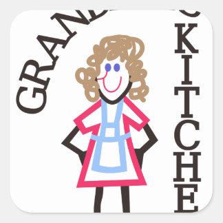 Grandma's Kitchen Square Sticker
