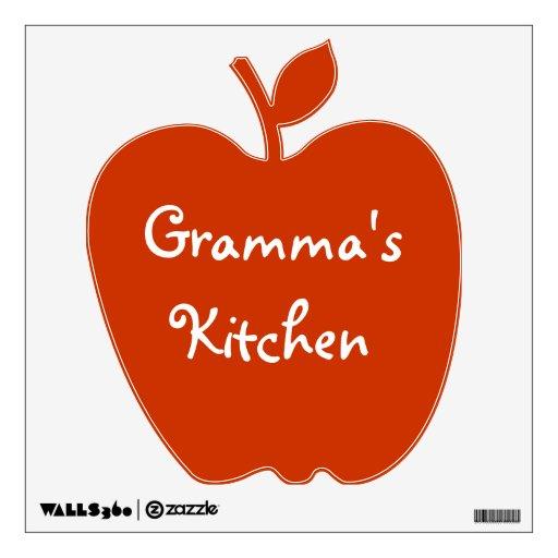 Grandma's Kitchen Wall Decal