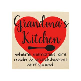 grandma's kitchen wood wall decor