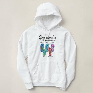 Grandma's Lil' Footprints Personalized Flip Flop Hoodie