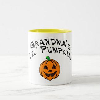 Grandmas Lil Pumpkin Two-Tone Coffee Mug