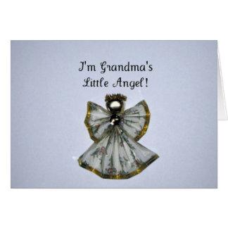 Grandma's little angel greeting card