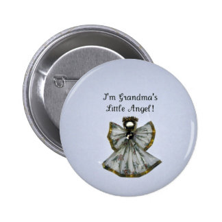 Grandma's little angel pinback buttons