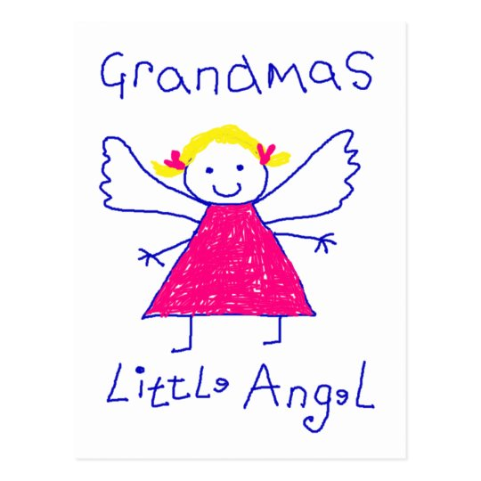Grandma's Little Angel Postcard
