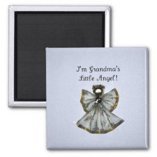Grandma's little angel refrigerator magnet