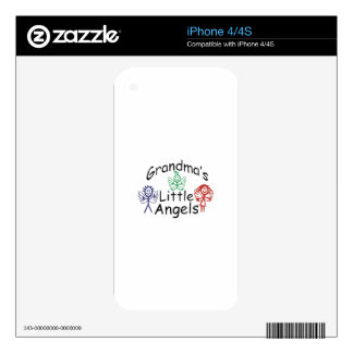 Grandmas Little Angels iPhone 4 Decal