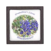 Grandma's Little Bluebonnet Texas Gift Box Premium Keepsake Box
