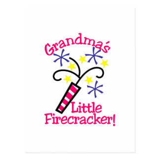 Grandma's Little Firecracker! Postcard